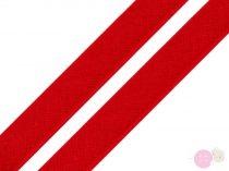 Pamut paszpol szalag piros 12 mm