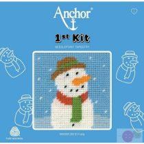 Anchor 1st kit gyerekeknek Frosty hóember gobelin klészlet