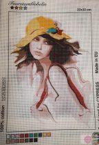 Gobelin -kalapos nő minta