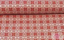 Pamutvászon-skandináv-piros