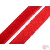Tépőzár horog + plüss szélessége 20 mm piros