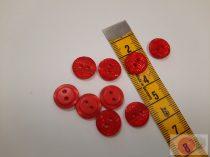 ariel 12 mm lézer vágott piros gomb