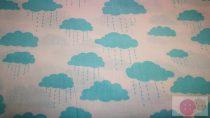 Pamutvászon-kék-felhők