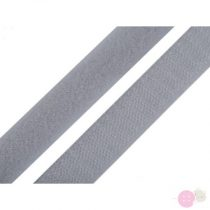Tépőzár horog + plüss szélessége 20 mm világosszürke
