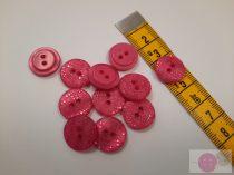 ariel 15 mm lézer vágott pink gomb