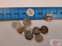 Kagyló kétlyukú gomb 10 mm