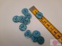 ariel 15 mm lézer vágott kék gomb