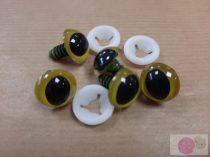 Biztonsági szem 15 mm sárga karimával macska pupillával