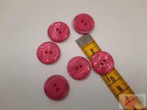 ariel 20 mm lézer vágott pink gomb