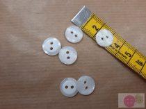 ariel 12 mm lézer vágott fehér gomb