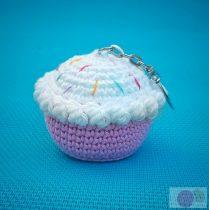 Horgolt fagyi muffin rózsaszín