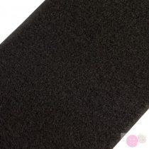 Tépőzár plüss, bolyhos szélessége 100 mm-fekete